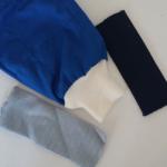 Campioni di stoffa e manica di tuta