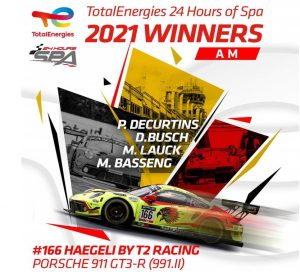 Haegeli by T2 Racing winner